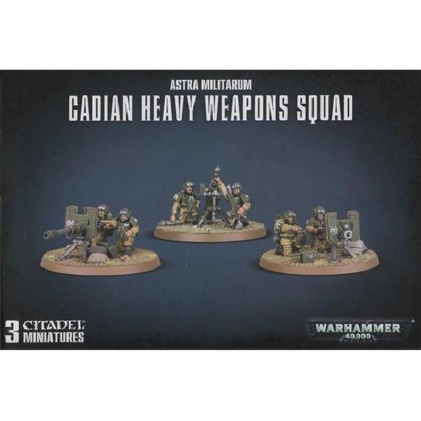 40K Astra Militarum Cadian Heavy Weapons Squad