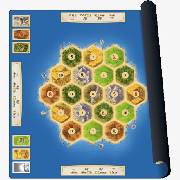 Catan Playmat Scenario Gold