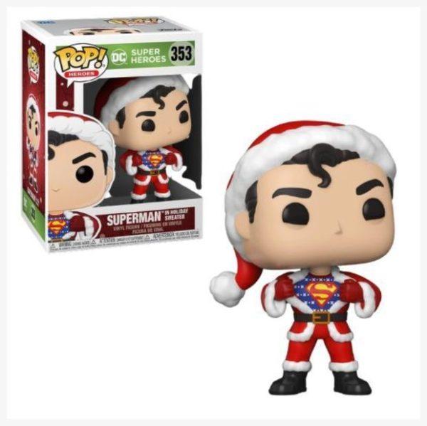 Funko POP superheroes Superman in holiday Sweater 353