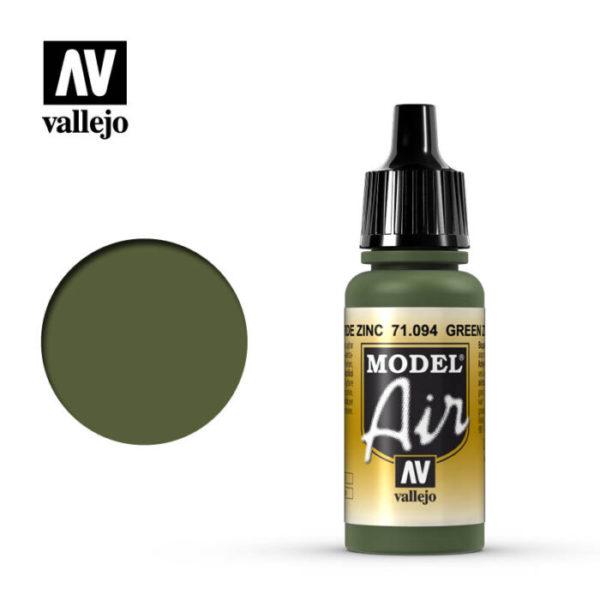 Model Air Acrylic Color Green Zinc Chrom.