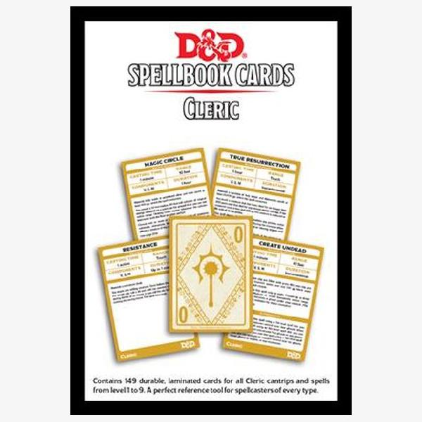 Spellbook cards Cleric