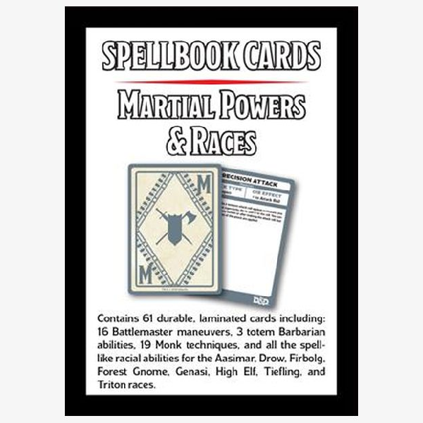 Spellbook cards Martial Powers