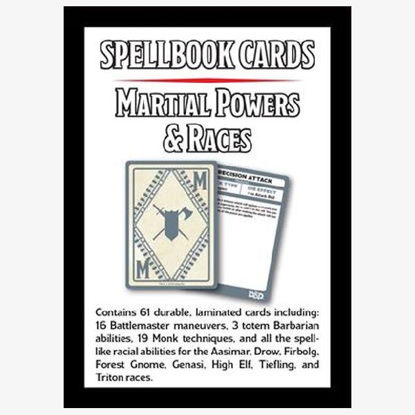 Spellbook cards Martial Powers
