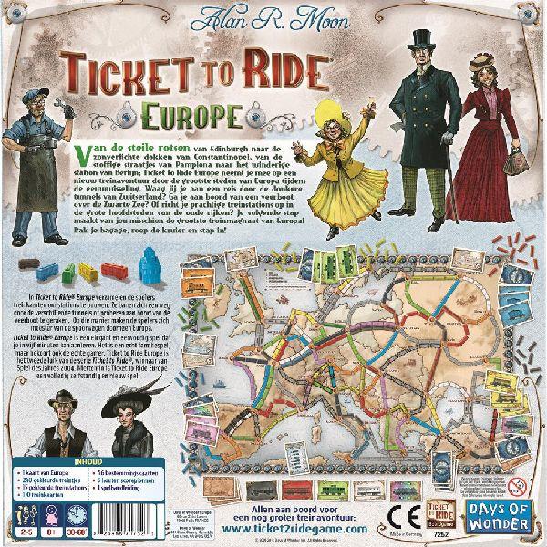 Ticket to Ride Europe Nederlandstalig