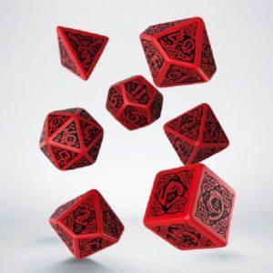 Dobbelset Poly Celtic Red/Black