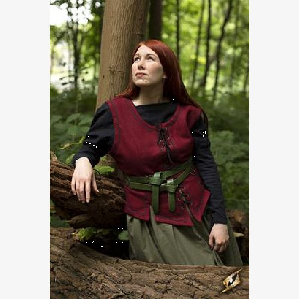 Ladies Vest - Dark Red - Size L