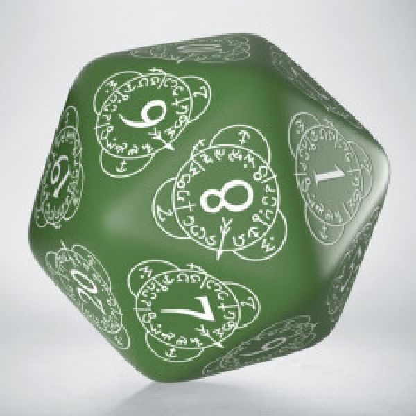 Spindown 20 zijdig giant size Opaque green/white