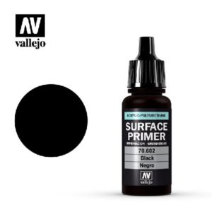 Surface Primer Acrylic Polyurethane Black