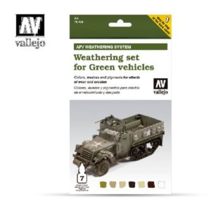 VA verfset Acrylic Color Colors, washes and pigments Weathering set for Green Vehicles
