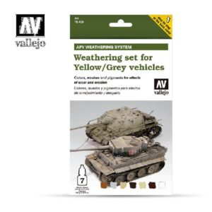 VA verfset Acrylic Color Colors, washes and pigments Weathering set for Yellow and Grey Vehicles