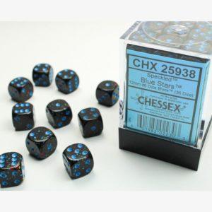 dobbelset 36xD6 Speckled Blue Stars