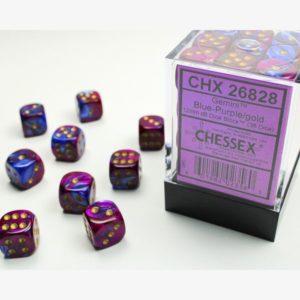 dobbelset 36xD6 Vortex Purple / Gold