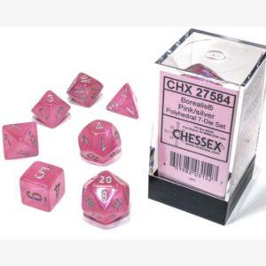 dobbelset Poly Borealis Pink / Silver