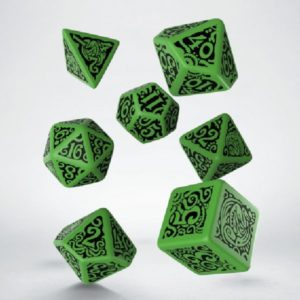 dobbelset Poly Call of Cthulhu Green/black