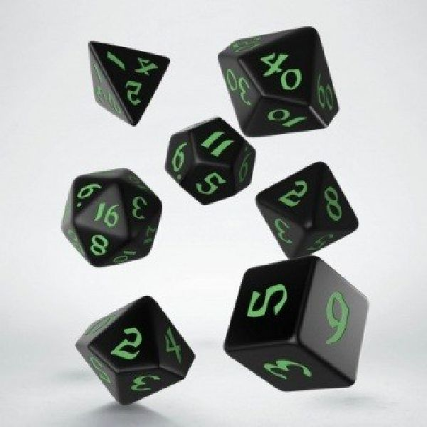 dobbelset Poly Classic Runic Black/Green