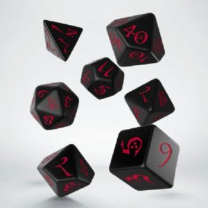 dobbelset Poly Classic Runic Black/Red