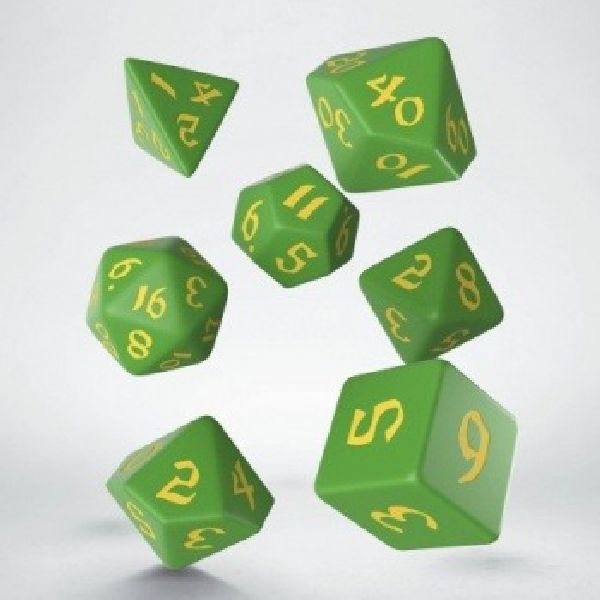 dobbelset Poly Classic Runic Green/Yellow