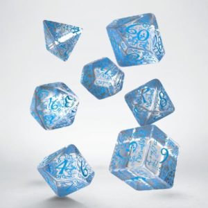 dobbelset Poly Elvish Translucent & Blue