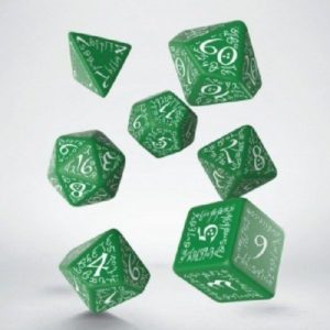 dobbelset Poly Elvish green/white