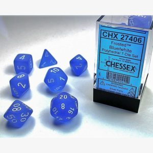 dobbelset Poly Frosted Blue / White