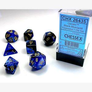 dobbelset Poly Gemini Black-Blue/Gold