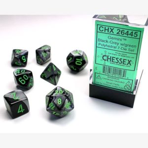 dobbelset Poly Gemini Black-Grey / Green