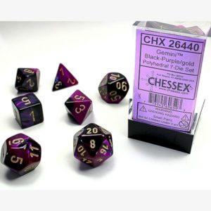 dobbelset Poly Gemini Black-Purple/Gold