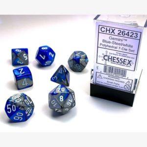 dobbelset Poly Gemini Blue-Steel/White
