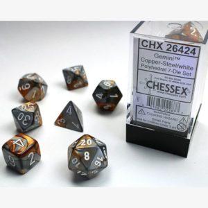 dobbelset Poly Gemini Copper-Steel/White