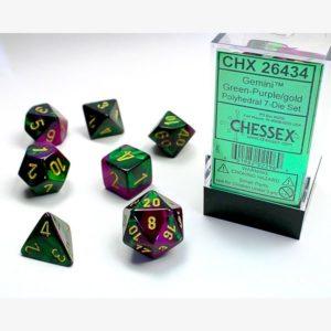 dobbelset Poly Gemini Green-Purple/Gold