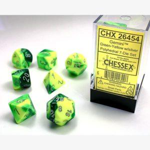 dobbelset Poly Gemini Green-Yellow / Silver