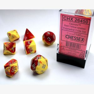 dobbelset Poly Gemini Red-Yellow / Silver