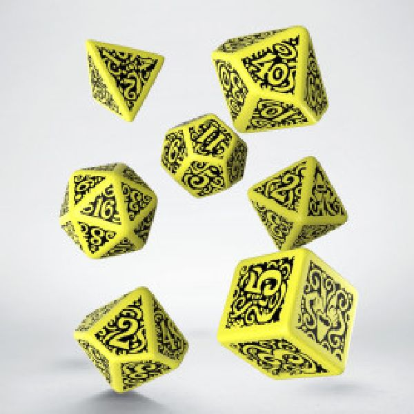 dobbelset Poly Hastur Call of Cthulhu Yellow/black