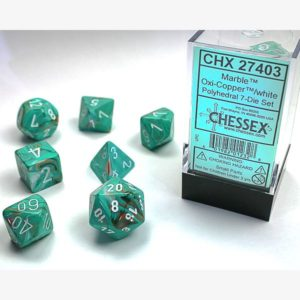 dobbelset Poly Marble Oxi-Copper / White