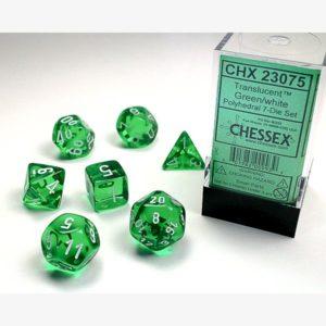 dobbelset Poly Translucent Green/ White