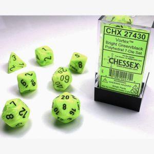 dobbelset Poly Vortex Bright Green/Black