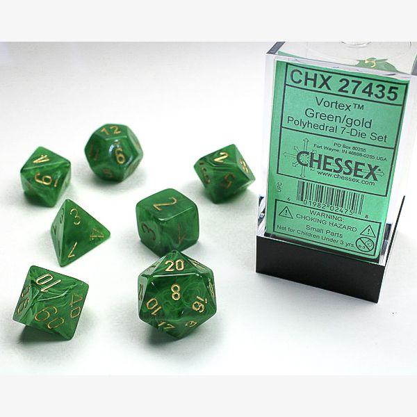 dobbelset Poly Vortex Green / Gold