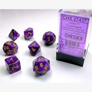 dobbelset Poly Vortex Purple/Gold