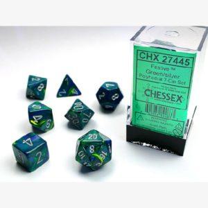 Dobbelset Poly Festive Green/Silver