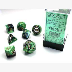 Dobbelset Poly Gemini Black-Green/Gold