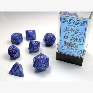 dobbelset Poly Vortex Blue/Gold
